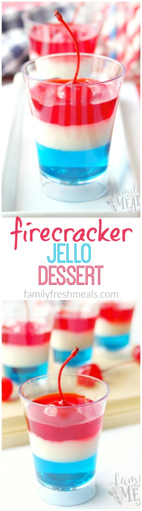 4th Of July Jello Firecrackers _ Fun Food for Kids- FamilyFreshMeals.com Pinterest