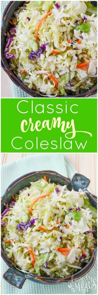Classic Creamy Coleslaw Recipe - FamilyFreshMeals.com