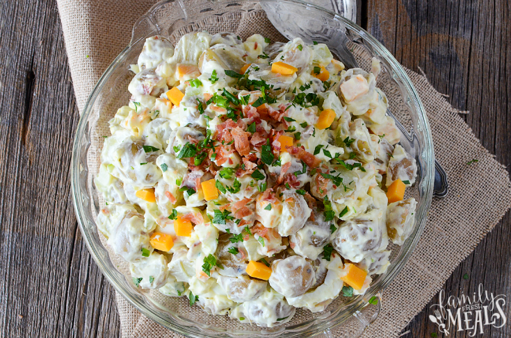 Fully Loaded Potato Salad - Creamy potato salad recipe - Family Fresh Meals
