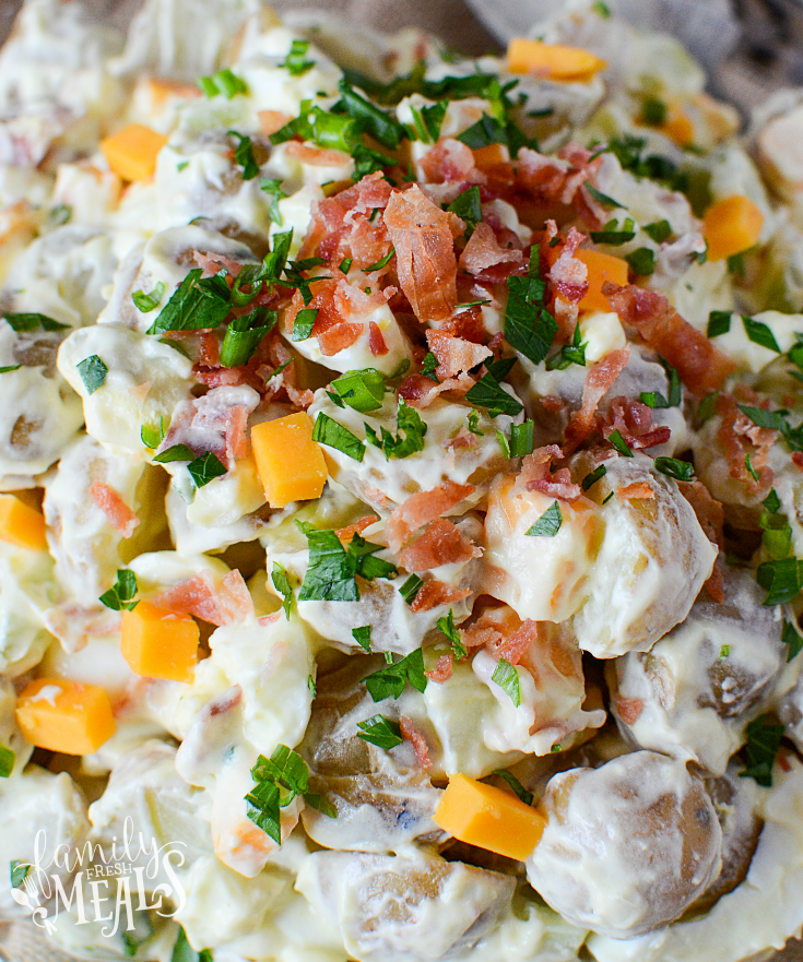 Fully Loaded Potato Salad - Bacon Potato Salad Recipe
