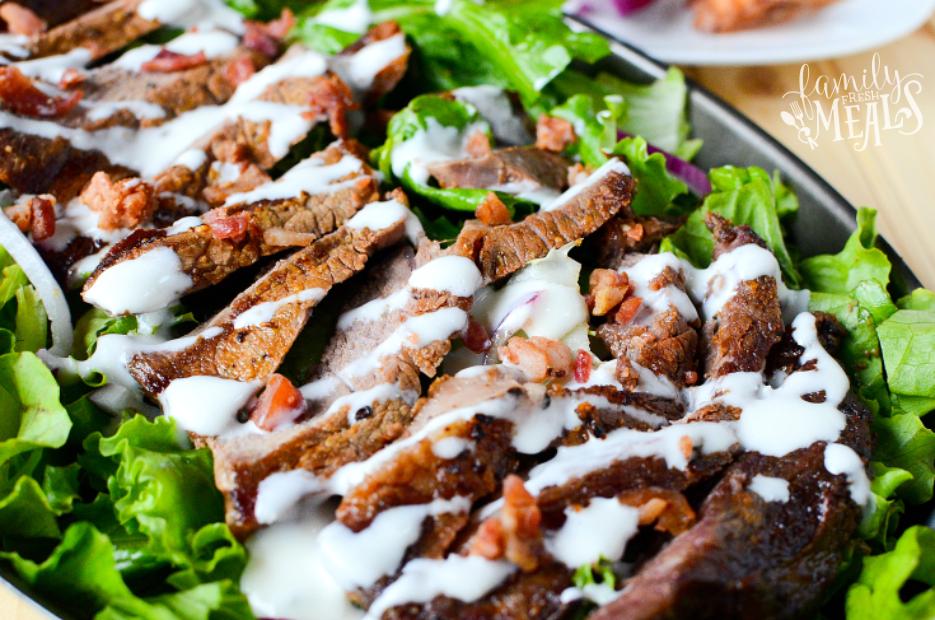 Mustard Glazed Grilled Steak and Salad - Step 4