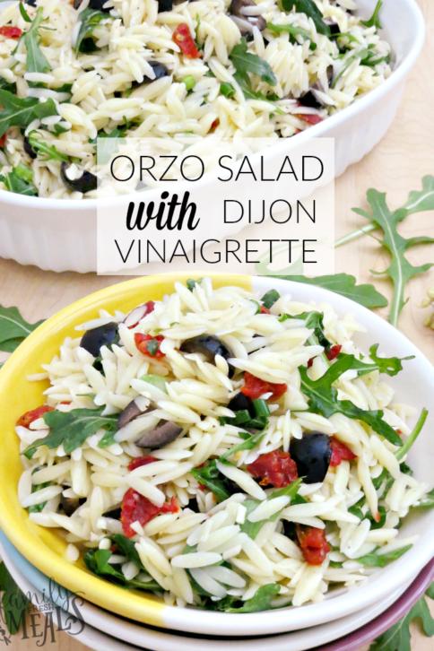 ORZO SALAD WITH DIJON VINAIGRETTE - FamilyFreshMeals.com --