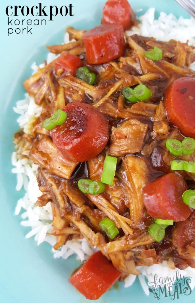 Crockpot Korean Pork - Family Fresh Meals Recipe