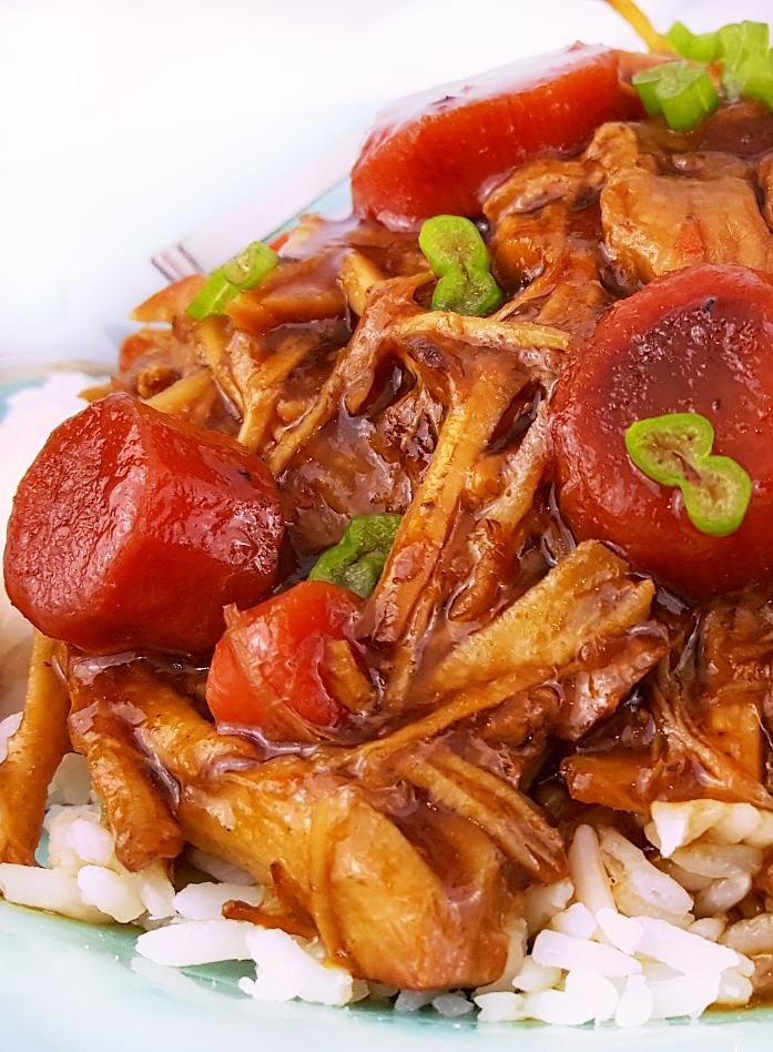 Crockpot Korean Pork Recipe - Easy pork recipe served over rice - Slow Cooker Korean Pork Recipe