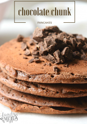 Double Chocolate Chunk Pancakes