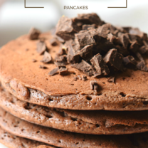 Double Chocolate Chunk Pancakes