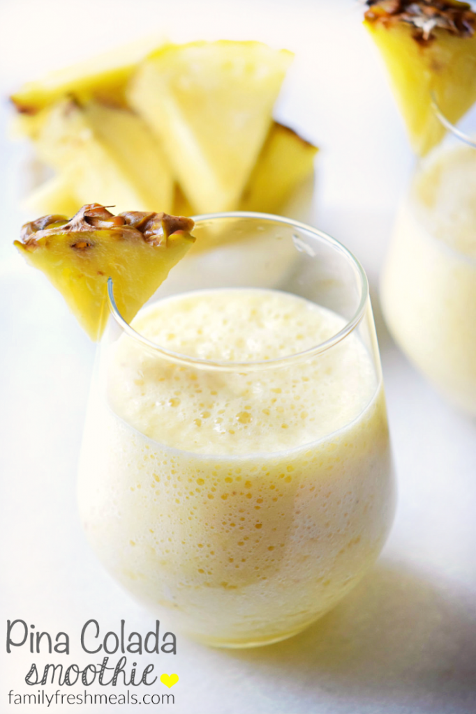 Pina Colada Smoothie - FamilyFreshMeals.com - Fresh and yummy smoothie