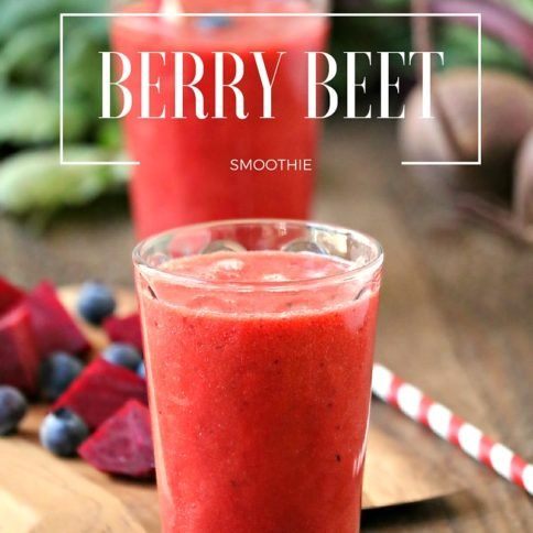 Berry Beet Smoothie - Such a fast, easy and yummy breakfast - FamilyFreshMeals.com