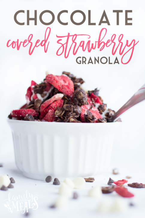 Chocolate Covered Strawberry Granola - FamilyFreshMeals.com