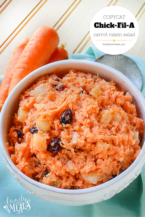 Copycat Chick Fil A Carrot Raisin Salad Recipe --- FamilyFreshMeals.com