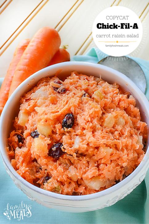 Copycat Chick Fil A Carrot Raisin Salad Recipe --- FamilyFreshMeals.com