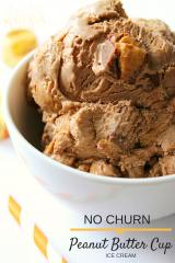 No Churn Peanut Butter Cup Ice Cream
