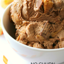 No Churn Peanut Butter Cup Ice Cream