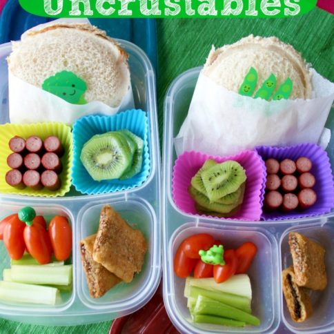 Homemade Uncrustables in 2 compartment lunch boxes