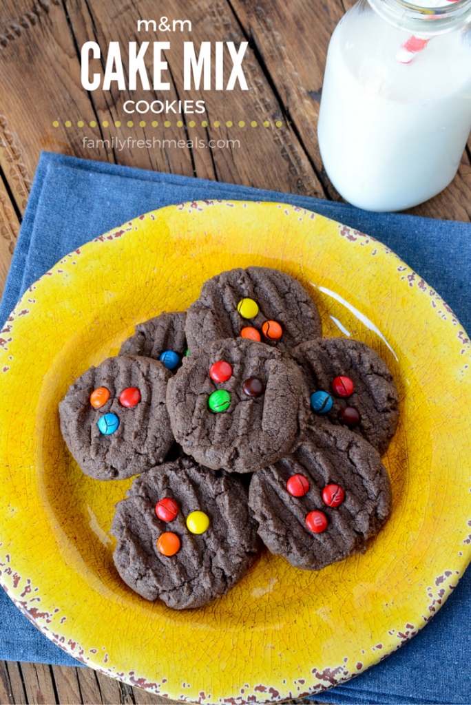 M&M Chocolate Cake Mix Cookies - YUM