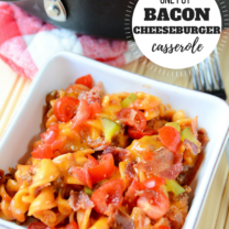 One Pot Bacon Cheeseburger Casserole