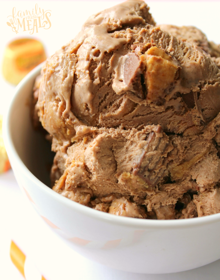 No Churn Peanut Butter Cup Ice Cream -