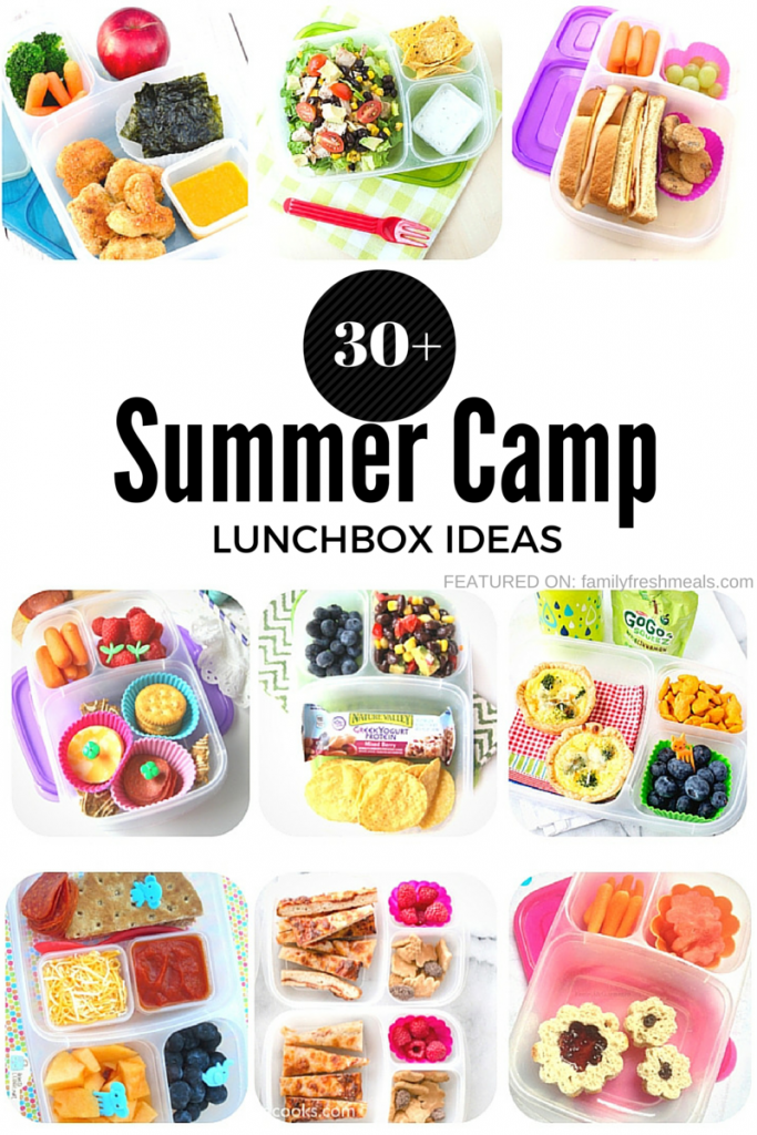 Over 30 Summer Camp Lunchbox Ideas - Family Fresh Meals
