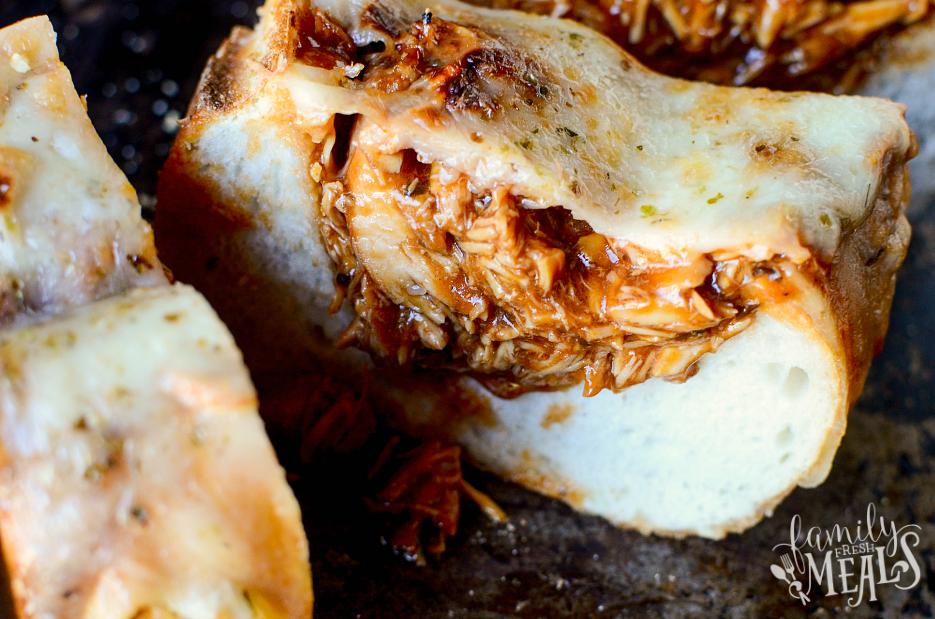 BBQ Chicken Stuffed Bread - BBQ you can Slice! - FamilyFreshMeals.com