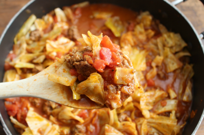 One Pot Unstuffed Cabbage Rolls - Step 4 - FamilyFreshMeals.com
