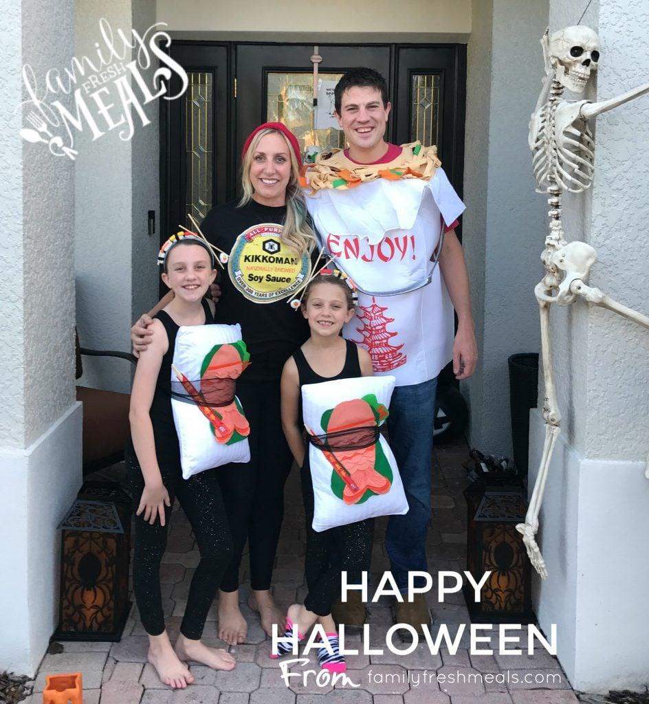 Happy Halloween Sushi Costume - FamilyFreshMeals.com