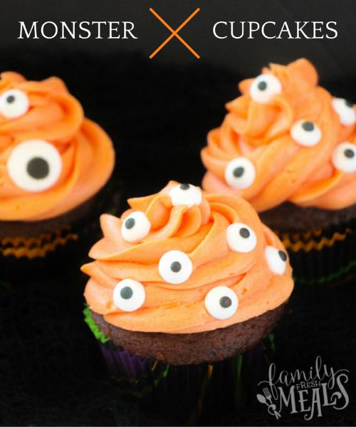 Monster Cupcakes - familyfreshmeals.com