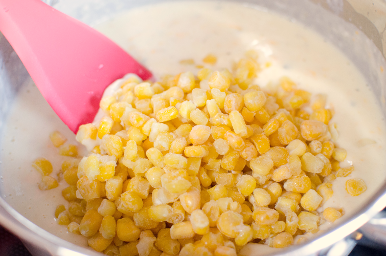 Easy corn pudding recipe  - Famous Corn Pudding recipe - Stir in corn
