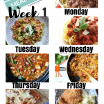 Easy Weekly Meal Plan Week 1