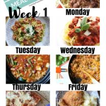 Easy Weekly Meal Plan Week 1