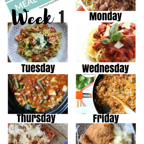 Easy Weekly Meal Plan - Week 1 - FamilyFreshMeals.com