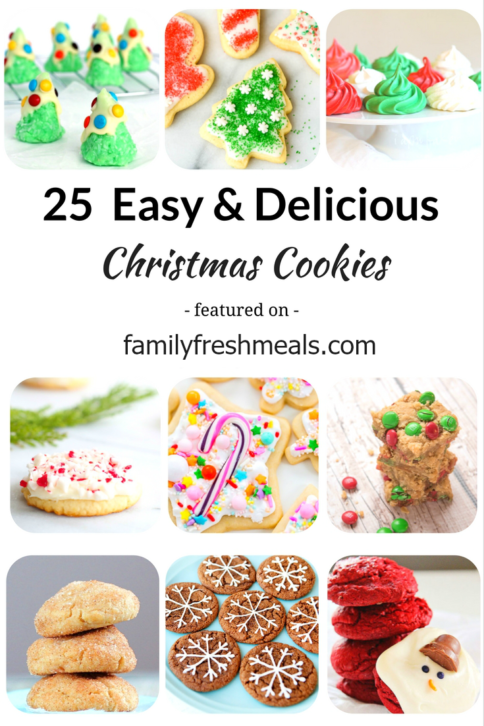 25 Easy and Delicious Christmas Cookies - FamilyFreshMeals.com