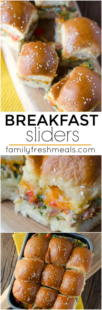 Breakfast Sliders familyfreshmeals.com