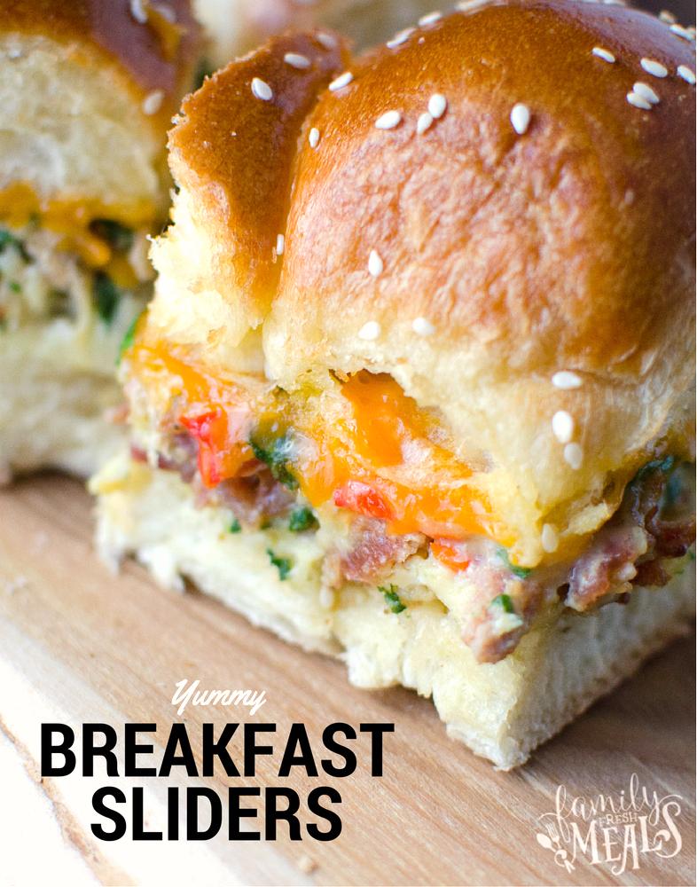 Breakfast Sliders familyfreshmeals.com