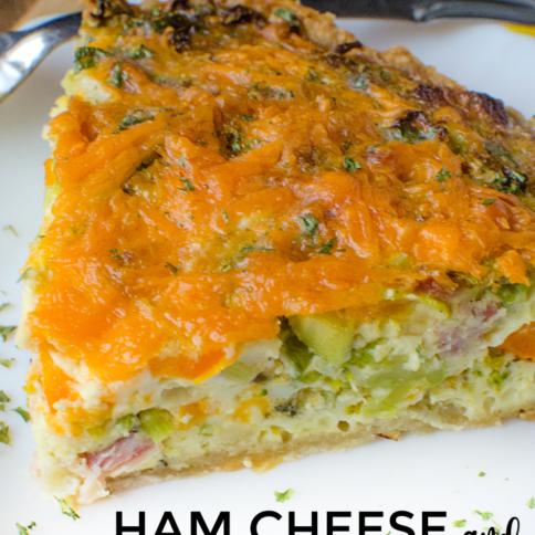 Ham Cheese And Broccoli Quiche - familyfreshmeals.com
