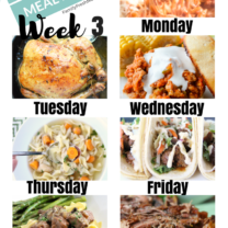 Easy Weekly Meal Plan Week 3
