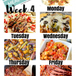 Easy Weekly Meal Plan Week 4