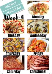 Easy Weekly Meal Plan Week 4