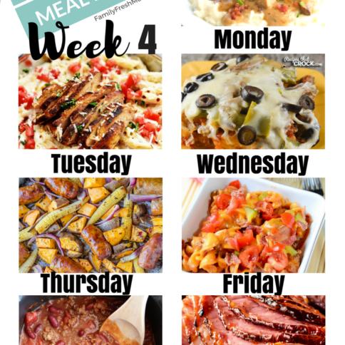 Easy Weekly Meal Plan - Week 4 - FamilyFreshMeals.com