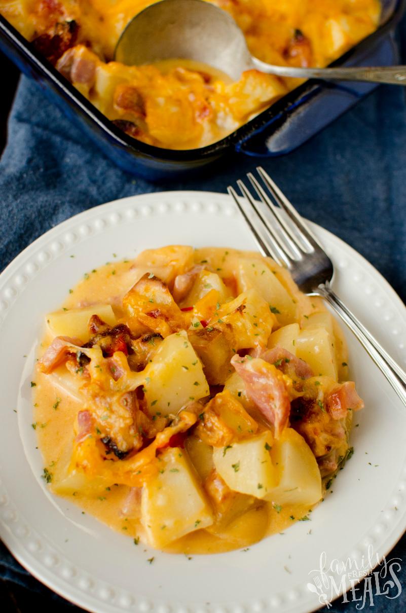 Cheesy Ham And Potato Casserole Family Fresh Meals