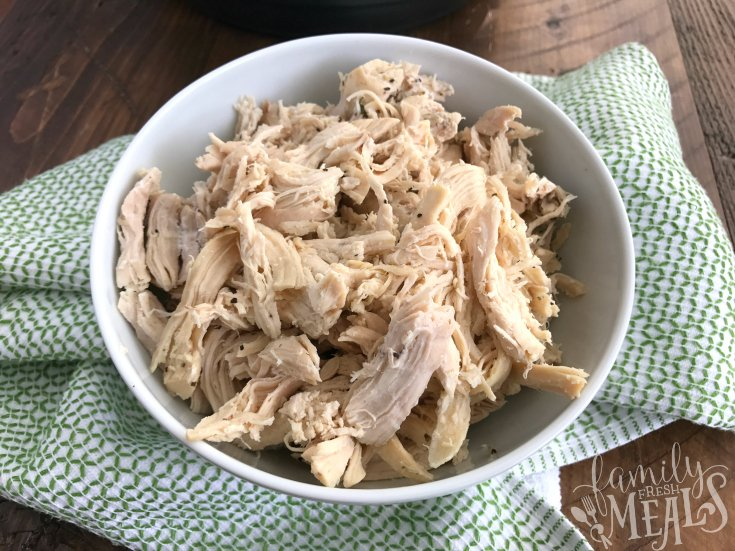 Flavorful Instant Pot Shredded Chicken Breast - How to make shredded chicken in the Instant Pot