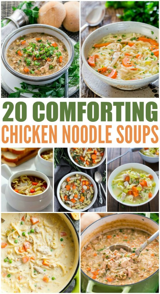 20 Homemade Chicken Noodle Soup Recipes