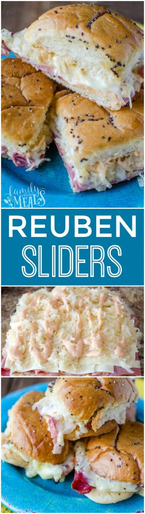 Reuben Sliders Recipe -YUM- FamilyFreshMeals.com