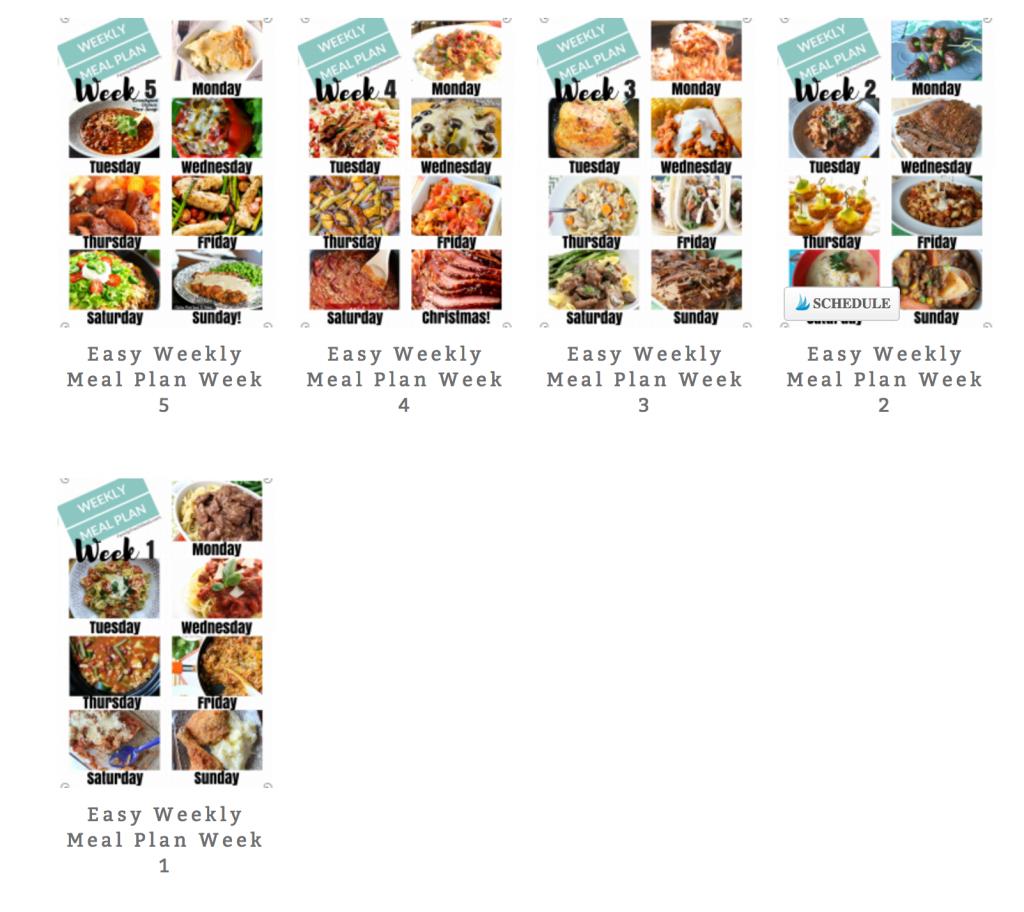 Easy Weekly Meal Plan - Week 6 - FamilyFreshMeals.com
