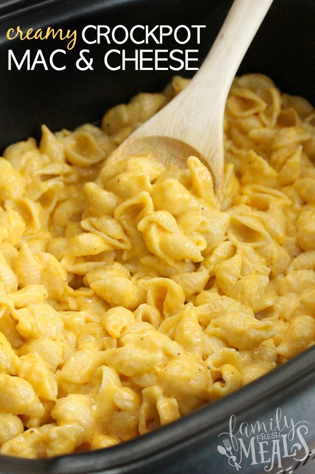 The Best Creamy Crockpot Mac and Cheese - FamilyFreshMeals.com Family Favorite Recipe