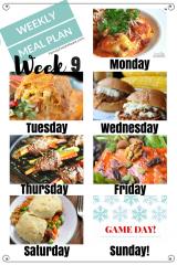 Easy Weekly Meal Plan Week 9