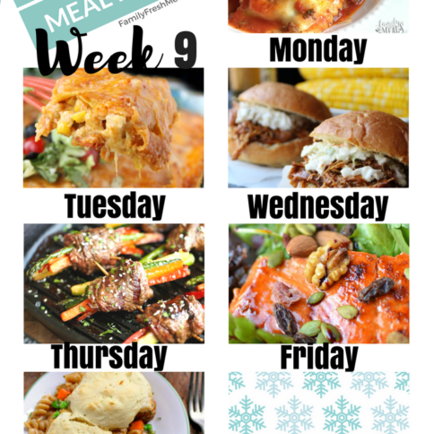 Easy Weekly Meal Plan Week 9 - Family Fresh Meals