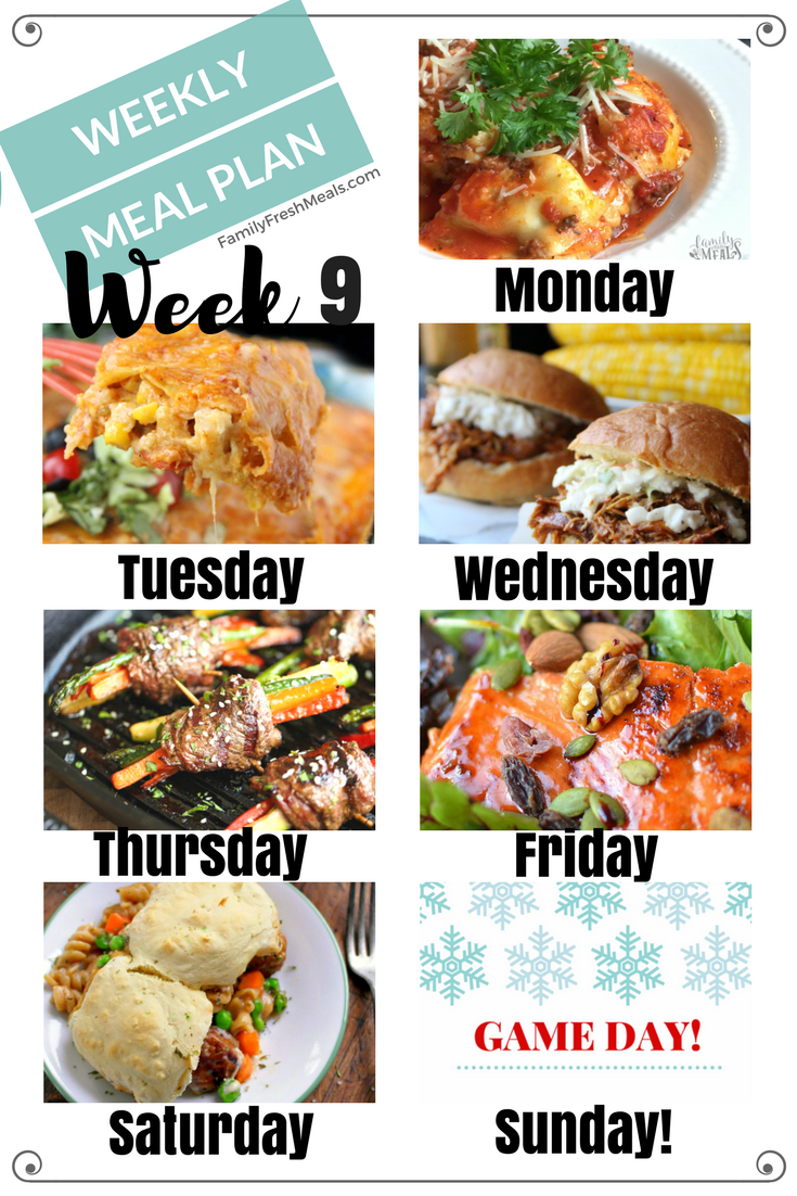 Easy Weekly Meal Plan Week 8   Family Fresh Meals