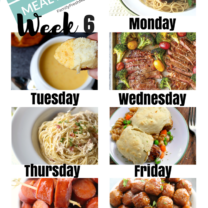 Easy Weekly Meal Plan Week 6