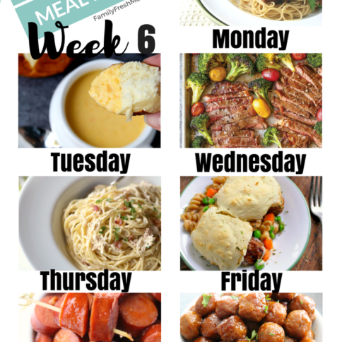 Easy Weekly Meal Plan - Week 6 - FamilyFreshMeals.com