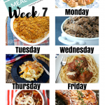 Easy Weekly Meal Plan Week 7